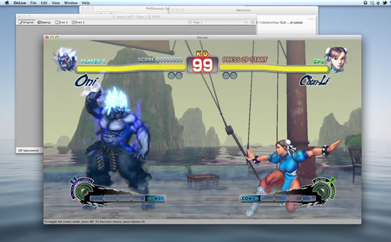Street Fighters 4 sur Mac OSX